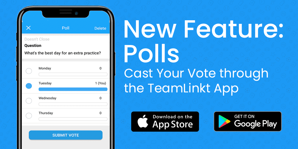 teamlinkt app feature polls