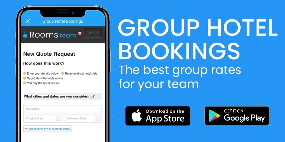 group hotel bookings teamlinkt