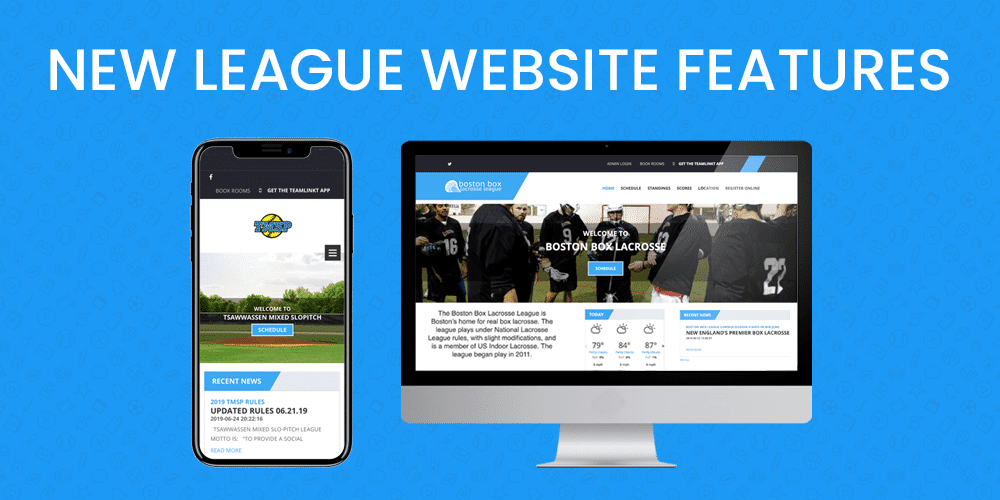 teamlinkt league website features
